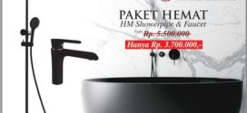 Paket Hemat HM Showerpipe & Faucet Hanya Rp 3 Jutaan